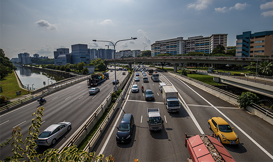 One of the expressways in Singapore