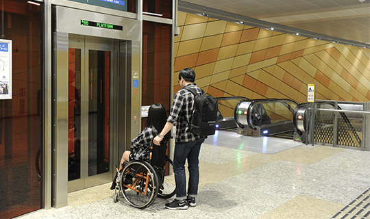 Lift access at most MRT stations