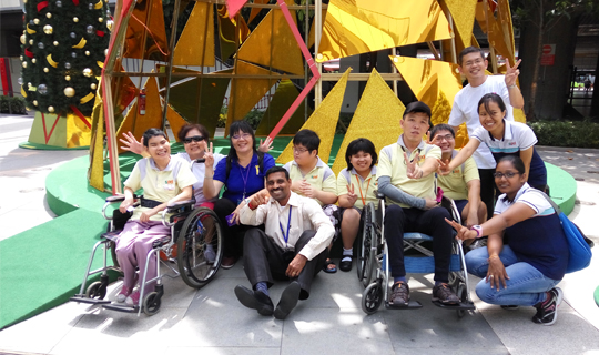 This is an image of LTA staff at an outing with beneficiaries