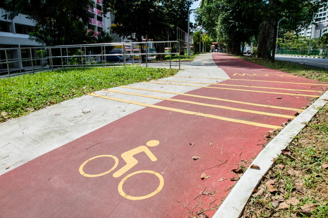 Distinctive Red Cycling Paths