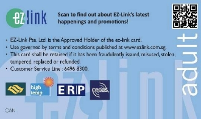 An sample of EZ-link card