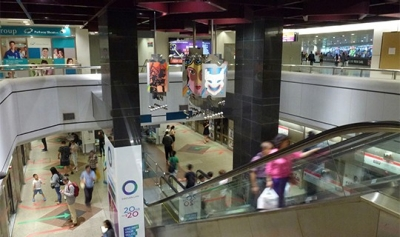 Interior of Dhoby Ghaut MRT station