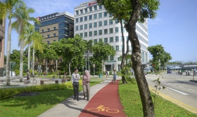 Cycling paths in Tampines